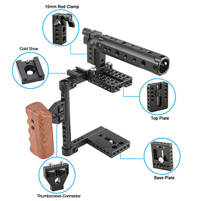 HDRiG Camera Rig with Top Handle for Canon Nikon Sony Panasonic