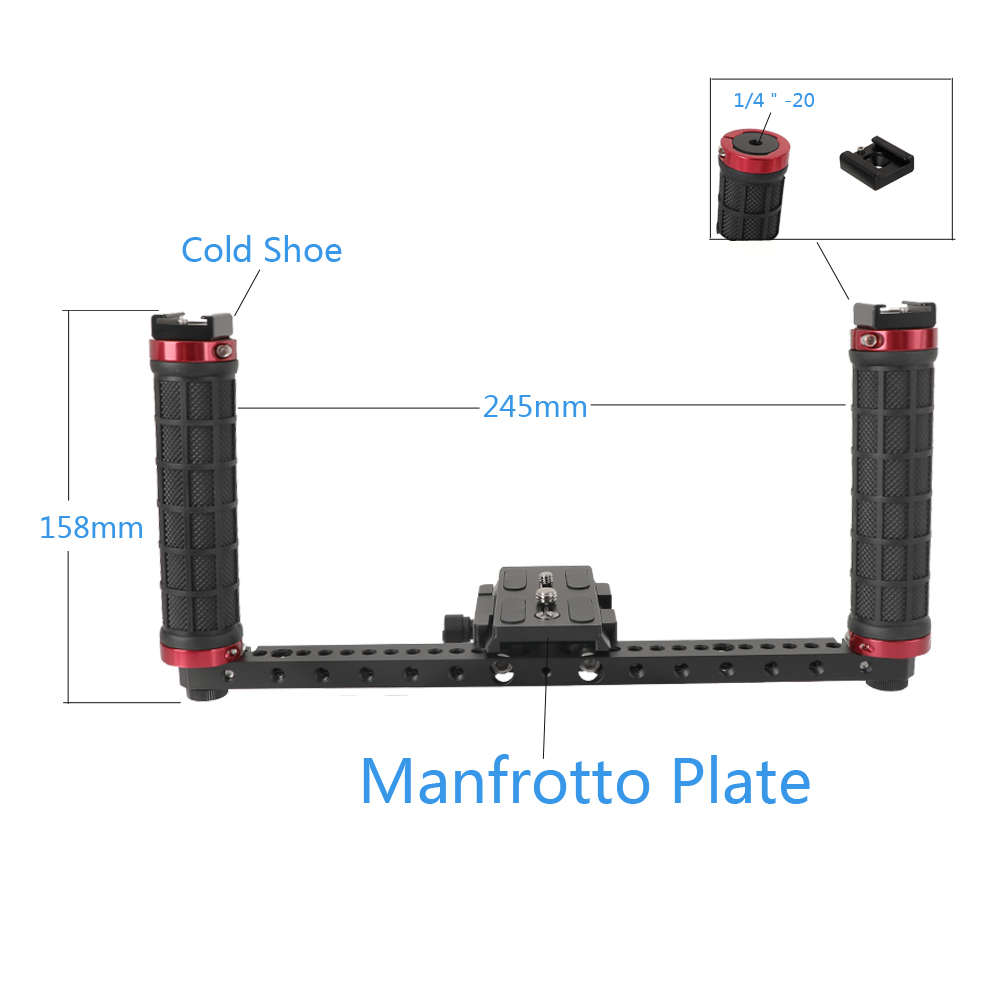 Manfrotto Style Handheld Camera Rig with Rubber Handle