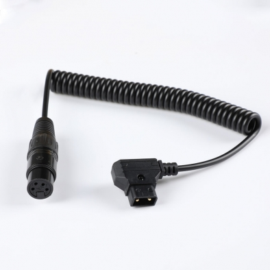 XLR Coiled Power Cable