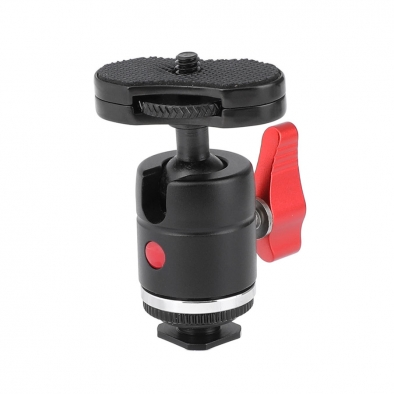Mini Ball Head Shoe Mount Adapter