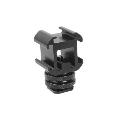 Metal 3 Cold Shoe Mount Adapter